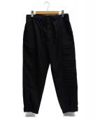 MONCLER(モンクレール)の古着「ロゴパンツ」 ブラック