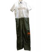 GAVIAL(ガヴィル)の古着「ジャンプスーツ」|ホワイト×カーキ