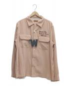 WEIRDO(ウィアード)の古着「テンセルツイルシャツ」|ピンク