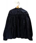 SCYE(サイ)の古着「リネン高密度チンツタックシャツ」|ネイビー