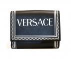 VERSACE(ヴェルサーチ)の古着「90年代モチーフロゴ3つ折り財布」|ブラック