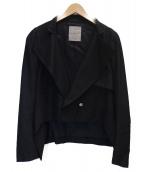 YOHJI YAMAMOTO(ヤマモトヨウジ)の古着「変形ショートジャケット」|ブラック