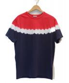 MONCLER(モンクレール)の古着「タイダイストライプTシャツ」|レッド×ネイビー
