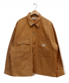 COOTIE PRODUCTIONS(クーティー プロダクツ)の古着「T/C SERGE SHORT COVERALL」|ブラウン