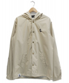 68&BROTHERS(シックスエイトアンドブラザーズ)の古着「Hooded Coach Jacket by PUTS」|ベージュ