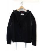 OAMC(オーエーエムシー)の古着「Split Cotton Oversized Hoodie」|ブラック