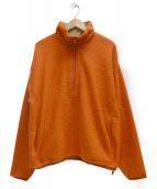 REMI RELIEF(レミレリーフ)の古着「ハーフジップスウェット」|オレンジ