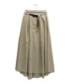GRAMICCI × Dickies(ディッキーズ × グラミチ)の古着「ボリュームスカート」 ベージュ