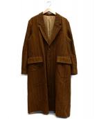 The Letters(レターズ)の古着「Corduroy Chesterfield Coat.」|ブラウン