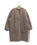 ROPE()の古着「ボアリバーシブルジャケット」|ベージュ