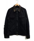 ISAMU KATAYAMA BACKLASH(イサムカタヤマバックラッシュ)の古着「ダメージ加工デニムジャケット」|ブラック