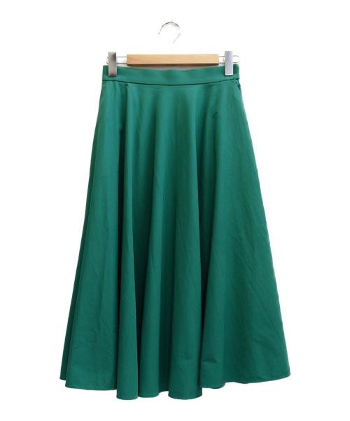 UNITED ARROWS TOKYO(ユナイテッドアローズトウキョウ)UNITED ARROWS TOKYO (ユナイティッドアローズトウキョウ) UWCSサーキュラーロングスカート グリーン サイズ:表記サイズ:40の古着・服飾アイテム