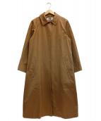 H BEAUTY&YOUTH(エイチ ビューティアンドユース)の古着「COTTON SATIN COAT」|ブラウン