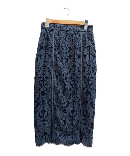 JILL STUART(ジルスチュアート)JILL STUART (ジルスチュアート) シンディレーレースタイトスカート スカイブルー サイズ:表記サイズ:2   19年モデルの古着・服飾アイテム