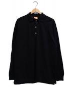 Andersen-Andersen(アンデルセン アンデルセン)の古着「ニットポロシャツ」|ブラック