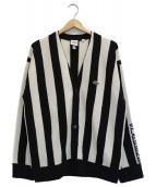 LACOSTE×SUPREME(ラコステ×シュプリーム)の古着「Stripe Cardigan」|ホワイト×ブラック