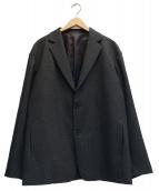 MAISON SPECIAL(メゾンスペシャル)の古着「エスウールグレンチェックラグランテーラードジャケット」|グレー