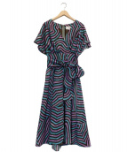 ROPE(ロペ)の古着「京都黒紋付深黒染ワンピース」|パープル