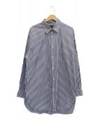 UNITED TOKYO(ユナイテッドトウキョウ)の古着「THOMAS MASONストライプオーバーシャツ」 ホワイト×ブラック
