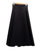 ROPE(ロペ)の古着「Wスポンディッシュフレアースカート」|ブラック