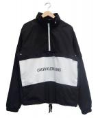 Calvin Klein Jeans(カルバンクラインジーンズ)の古着「ロゴアノラックパーカー」|ブラック