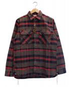 SUGAR CANE(シュガーケーン)の古着「ネルシャツ」|グレー×レッド