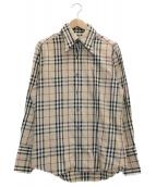BURBERRY BLACK LABEL(バーバリーブラックレーベル)の古着「ノバチェックシャツ」|ベージュ