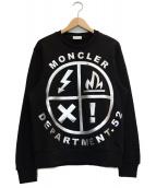 MONCLER(モンクレール)の古着「シルバー立体プリントスウェット」|ブラック