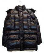 ADD(アド)の古着「ダウンフーデッドジャケット」 ブラック