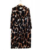 BY MALENE BIRGER(バイマレーネビルガー)の古着「ウールコート」|ブラック×オレンジ