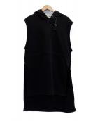 KAIKO(カイコー)の古着「ノースリーブパーカー」|ブラック