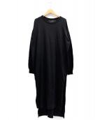 ADAWAS(アダワス)の古着「サイドスリットワンピース」 ブラック