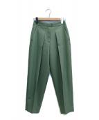 STUNNING LURE(スタニングルアー)の古着「タックパンツ」|グリーン