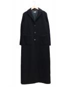 MAX&Co.(マックスアンドコ)の古着「ロングチェスターコート」|ブラック