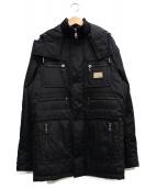 DOLCE & GABBANA(ドルチェアンドガッバーナ)の古着「ナイロンフーデッドジャケット」|ブラック