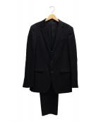 COMME CA MEN(コムサメン)の古着「CERRUTIギャバストレッチセットアップジャケット」|ブラック