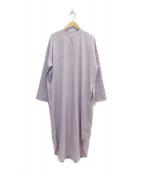 Demi-Luxe BEAMS(デミルクスビームス)の古着「バンドカラーシャツワンピース」|パープル