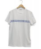 ()の古着「ストライプロゴTシャツ」|ホワイト
