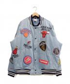 SUPREME × NIKE(シュプリーム × ナイキ)の古着「NBA Teams Warm-Up Jacket」|ブルー