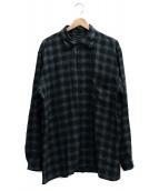 COMOLI(コモリ)の古着「レーヨンオープンカラーシャツ」 グレー×グリーン