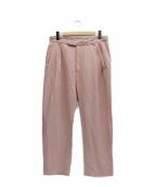 MANDO(マンド)の古着「リネンレーヨンパンツ」 ピンク
