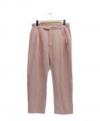 MANDO(マンドー)の古着「リネンレーヨンパンツ」|ピンク