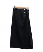 ゴーシュ(ゴーシュ)の古着「変形スカート」|ブラック