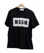 MSGM(エムエスジーエム)の古着「BOX LOGO TEE」 ブラック