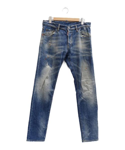 DSQUARED2(ディースクエアード)DSQUARED2 (ディースクエアード) COOL GUY JEAN インディゴ サイズ:表記サイズ:50 S74LA0649 S30144の古着・服飾アイテム