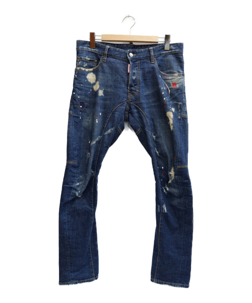 DSQUARED2(ディースクエアード)DSQUARED2 (ディースクエアード) TIDY BIKER JEAN インディゴ サイズ:表記サイズ:48  S71LA0886 S301の古着・服飾アイテム