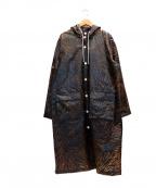 GANNI(ガニー)の古着「レオパードレインコート」|ブラウン