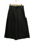 TOGA PULLA(トーガ プルラ)の古着「メッシュフリンジワイドパンツ」|ブラック