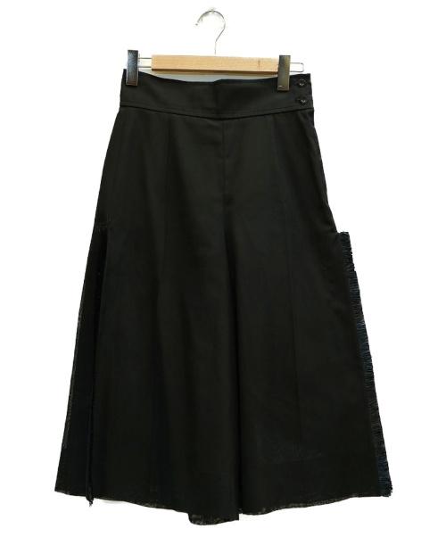 TOGA PULLA(トーガプルラ)TOGA PULLA (トーガ プルラ) メッシュフリンジワイドパンツ ブラック サイズ:表記サイズ:36の古着・服飾アイテム