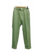 KAIKO(カイコー)の古着「ポリエステルツイルトラウザーパンツ」|グリーン